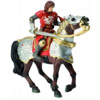 Фигурка Принц на боевой лошади красный