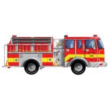 Большая пожарная машина - напольный пазл, 24 эл.