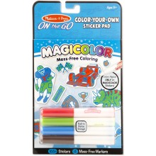 Магические наклейки-раскраски - голубые