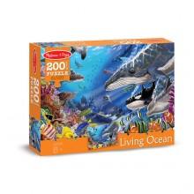 Живой океан - напольный пазл, 200 эл.