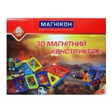 3-D магнитный конструктор МАГНІКОН, 66 дет.
