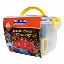 3-D магнитный конструктор МАГНІКОН, 48 дет.