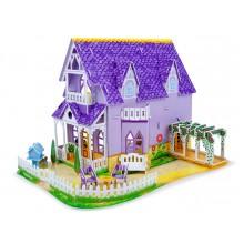 3D пазлы Фиолетовый домик