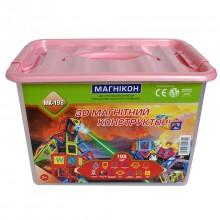 3-D магнитный конструктор МАГНІКОН, 198 дет.
