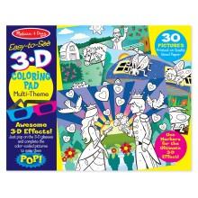 3D раскраска по точкам для девочки