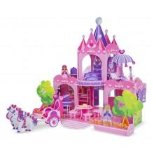 3D пазлы Розовый замок