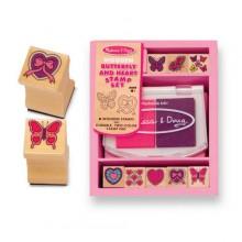 Печати Сердечки и бабочки MD2415