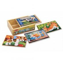 Деревянный пазл «Домашние животные» MD3790