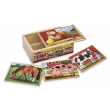 Деревянный пазл «Животные на ферме» MD13793