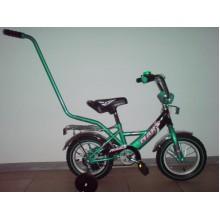 Велосипед Марс 12 ручка + эксцентрик (зеленый/чёрный)