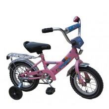 Велосипед Марс 12 ручка + эксцентрик (розовый)