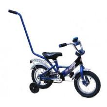 Велосипед Марс 12 ручка + эксцентрик (синий/черный)