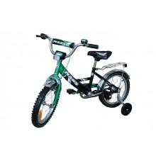 Велосипед Марс 16 ручной тормоз + эксцентрик (зеленый/чёрн