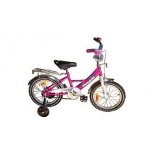 Велосипед Марс 16 ручной тормоз + эксцентрик (розовый)
