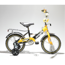 Велосипед Марс 14 ручной тормоз + эксцентрик (желтый/черны