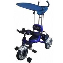 Велосипед 3-х колесный Mars Trike надувные колёса (синий)