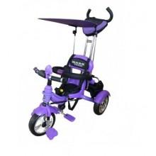 Велосипед 3-х колесный Mars Trike  надувные колёса (фиолет