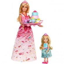 Игровой набор с куклой Barbie Чайная вечеринка с принцессо