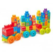 Конструктор Поезд с буквами Mega Bloks Fisher-Price