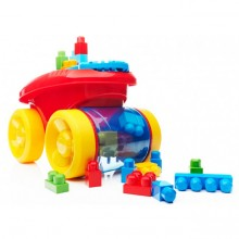 Тележка-каталка Собираем кубики Mega Bloks