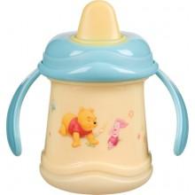 Кружка-непроливайка Винни-Пух Disney желто-голубая