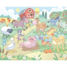 Детские фотообои Walltastic Бейби - Веселая ферма