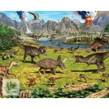 Детские фотообои Walltastic Земля динозавров