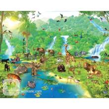 Детские фотообои Walltastic Приключения в джунглях