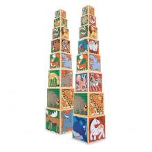 Набор деревянных блоков Животные