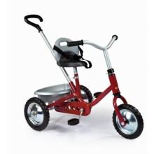 454011 Дитячий металевий велосипед з багажником, червоний