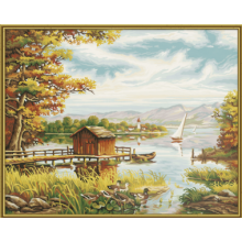 9130377 Художній творчий набір На березі озера, 50х40см