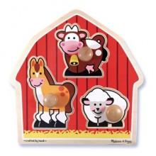 Животные с фермы – формовой пазл MD2054