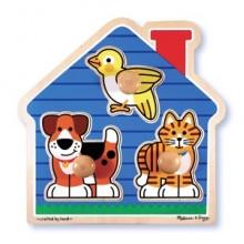 Домашние животные – формовой пазл MD2055