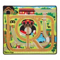 Игровой коврик с паровозиками Железная дорога