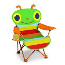 Раскладной детский стульчик Счастливая стрекоза MD6174
