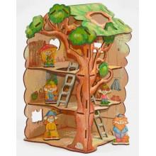 Конструктор деревянный Дом-дерево для Лешиков