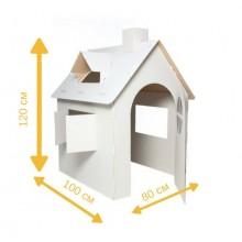 Картонный домик -раскраска для игр и рисования